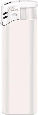 Пьезозажигалка многоразовая серия Color/Color Cap Е-100, белая