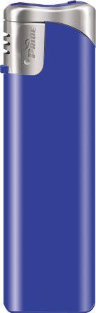 Пьезозажигалка многоразовая серия Color/Chrome Cap Е-101, синяя