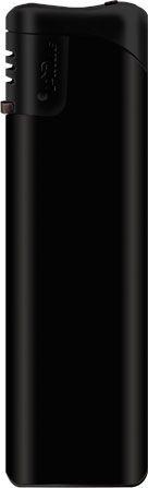 Пьезозажигалка многоразовая серия Matt Black/Black Cap Е-101, чёрная
