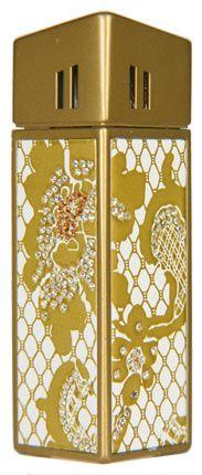 """Зажигалка """"CRICKET Premium Paris"""" газовая, инкрустирована кристаллами Swarovski, модель Golden Lace 1, цвет золотой"""