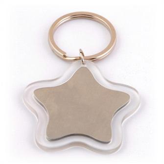 Брелок в виде звезды с пластиковым обрамлением, прозрачный