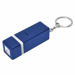 Брелок с фонариком квадратного сечения, синий, пластик