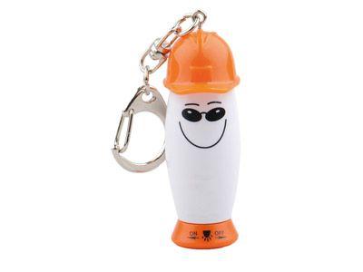 Брелок-фонарик с ручкой в виде человечка в каске