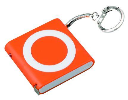 """Брелок-рулетка """"Книга"""" с фонариком, цвет оранжевый"""