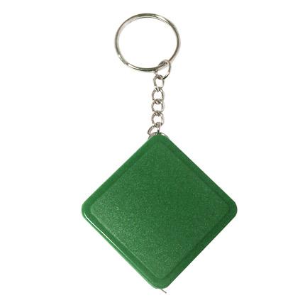Брелок-рулетка, длина 1м, цвет зеленый