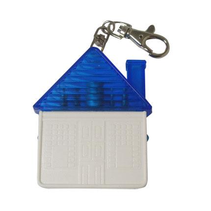 """Брелок-отвёртка """"Домик"""" с набором из 4 вставок-бит, цвет синий с белым"""