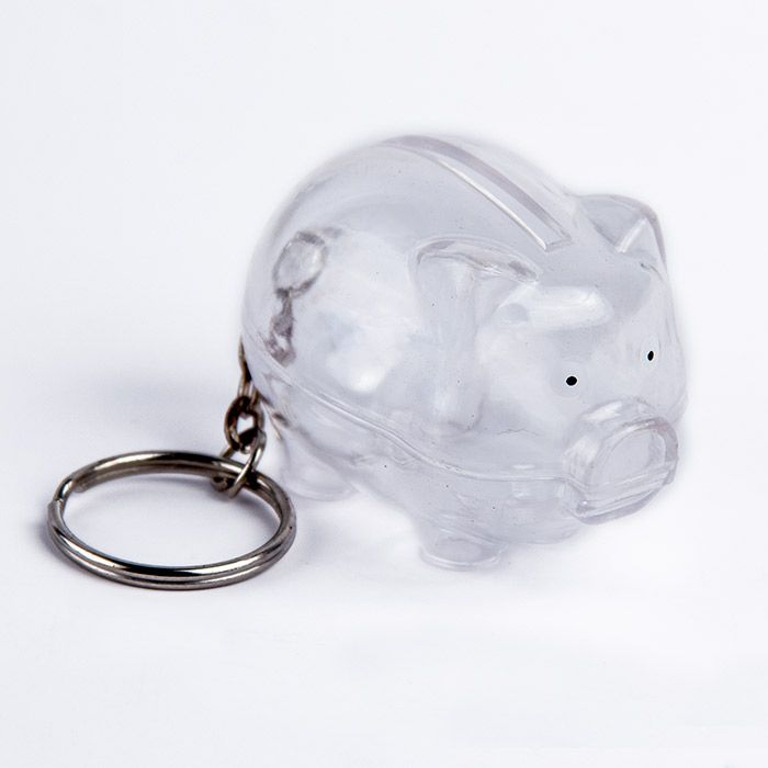 "Брелок-копилка ""Свинка"", цвет прозрачный"