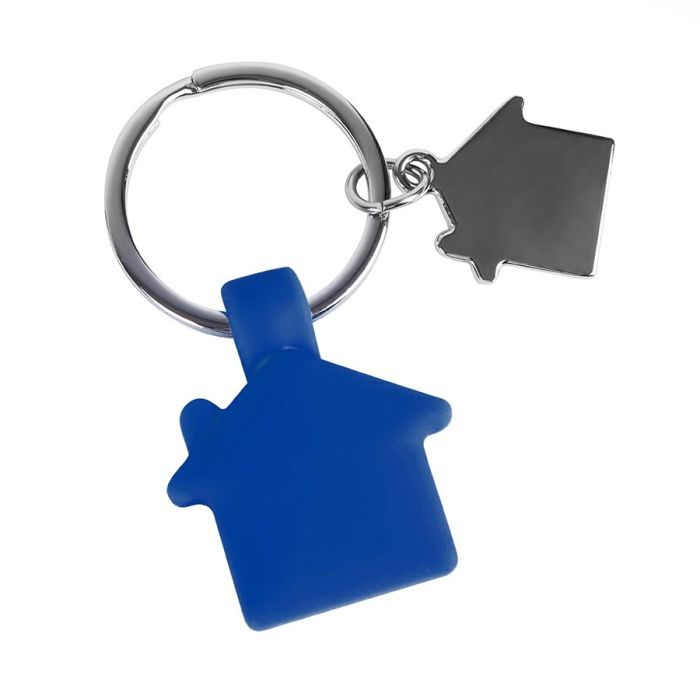 Брелок HOME, с покрытием SOFT TOUCH, синий