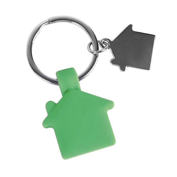Брелок HOME, с покрытием SOFT TOUCH, зелёный