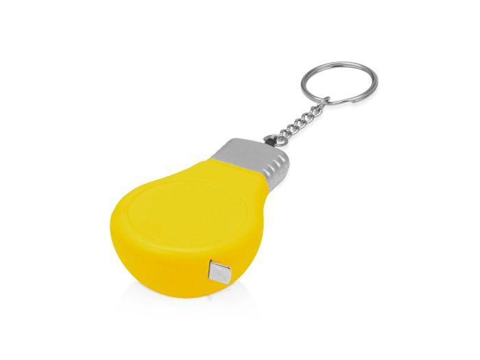 "Брелок-рулетка для ключей ""Лампочка"", 1м, жёлтый"