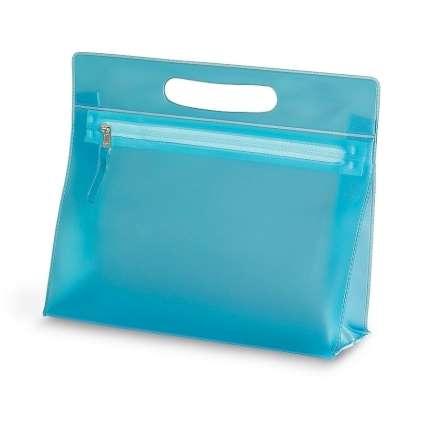 """Косметичка """"AQUARIUM"""", ПВХ, 24x22x7,5 см, голубая"""