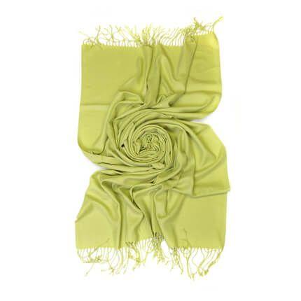 Палантин однотонный 70х200 см, цвет салатовый