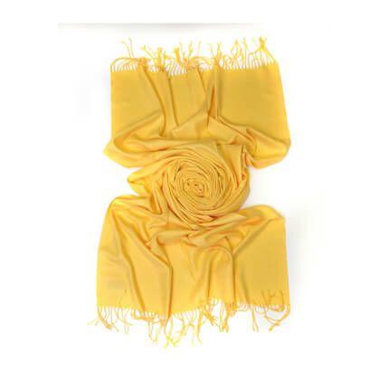 Палантин однотонный 70х200 см, цвет золотой