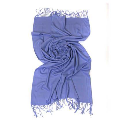 Палантин однотонный 70х200 см, цвет светло-фиолетовый
