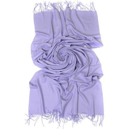 Палантин однотонный 70х200 см, цвет фиолетовый