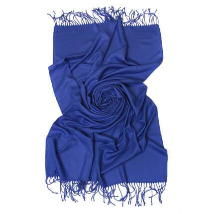 Палантин однотонный 70х200 см, цвет синий