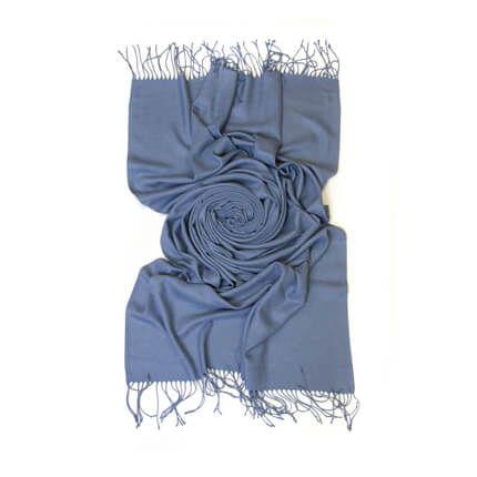 Палантин однотонный 70х200 см, цвет джинсовый