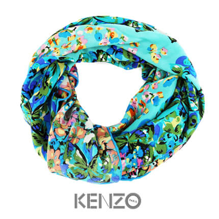 """Платок KENZO, """"Шарм"""", 140x140 см, 100% шерсть, в подарочной упаковке"""