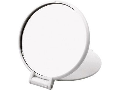 """Карманное косметическое зеркало """"Красотка"""", цвет белый"""