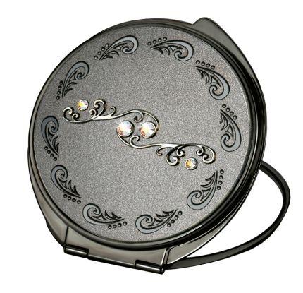 Зеркало косметическое круглое со стразами