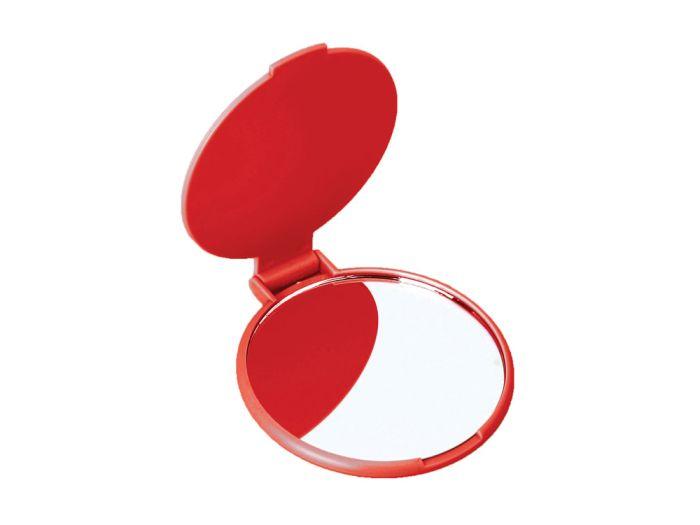 """Карманное косметическое зеркало """"Красотка"""", цвет красный"""