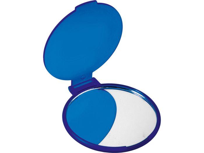 """Карманное косметическое зеркало """"Красотка"""", цвет синий"""