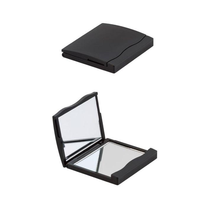 Зеркало двойное для макияжа, цвет черный