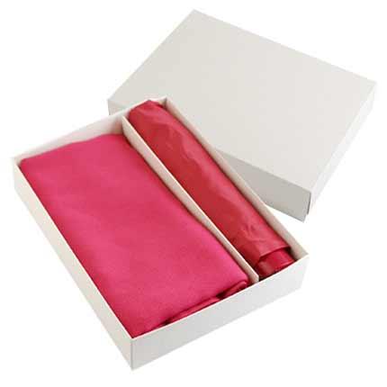 Набор подарочный: палантин и складной механический зонт в подарочной коробке, бордовый