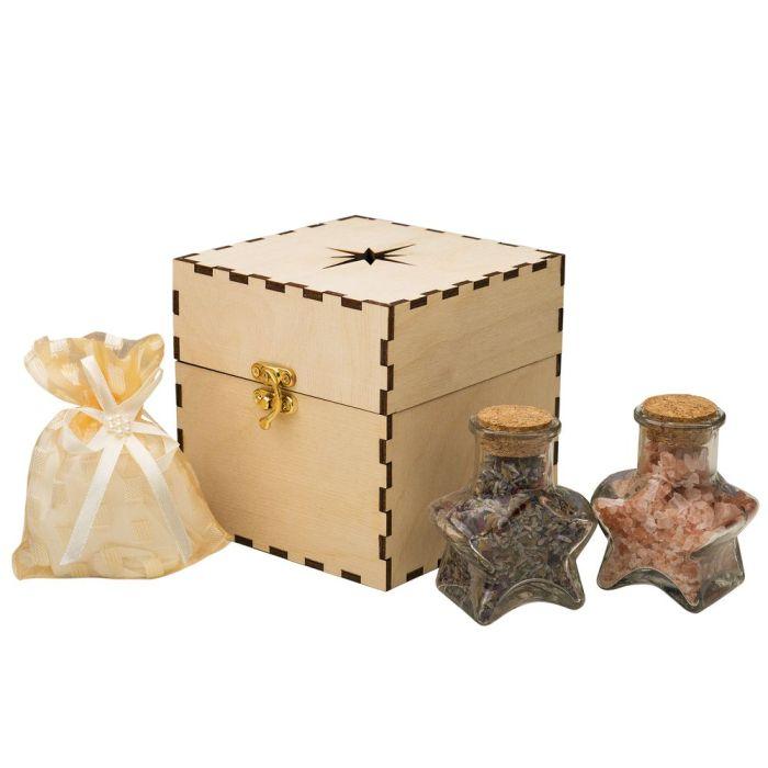 Набор Superstar: чай для ванн, соль для ванн, смесь лепестков роз и соцветий лаванды