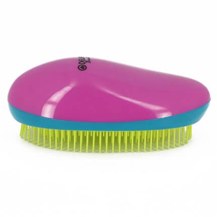 Щетка массажная DEWAL BEAUTY, для легкого расчесывания волос, овальная, цвет розово-сине-желтый