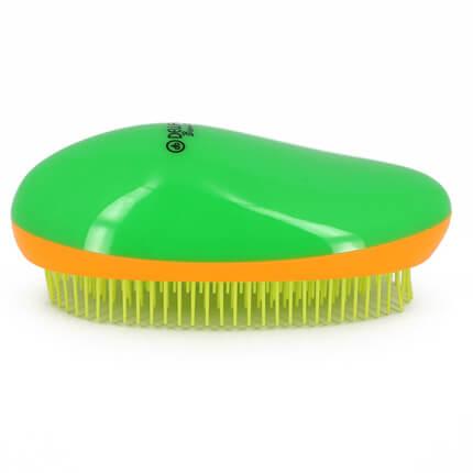Щетка массажная DEWAL BEAUTY, для легкого расчесывания волос, овальная, цвет зелено-оранжево-желтый