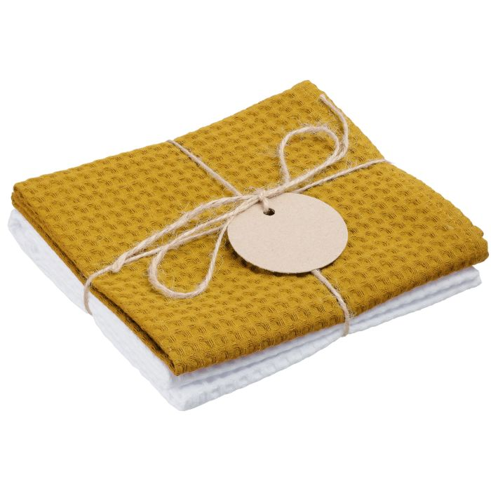 Набор кухонных полотенец Good Wipe, цвет белый с жёлтым