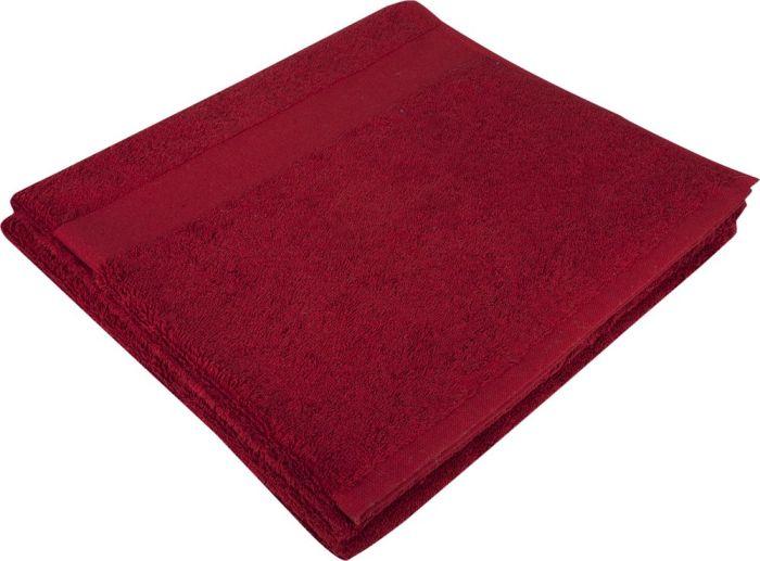 Полотенце махровое Large, 140х70 см, бордовое