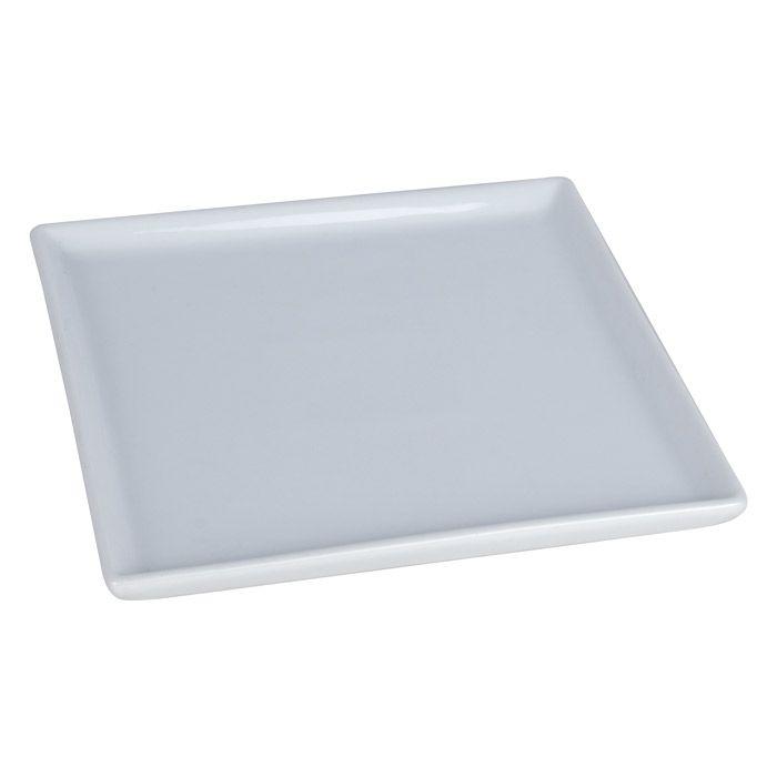 Тарелка для 3D сублимации керамическая, белая