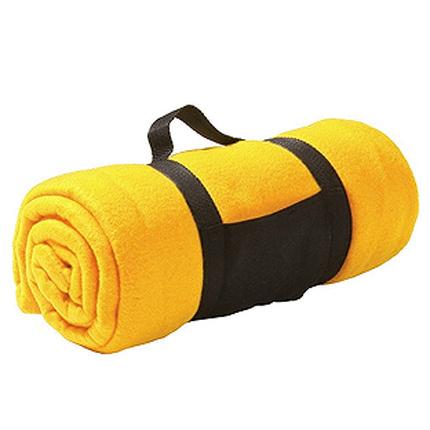"Плед ""Color"" из флиса, размер 130х150 см, жёлтый"