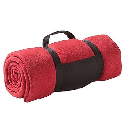 """Плед """"Color"""" из флиса, размер 130х150 см, красный"""