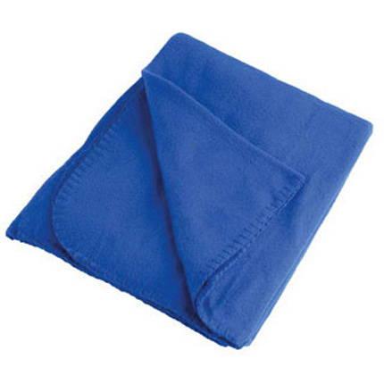 Плед флисовый в рюкзаке, 129х100 см, синий