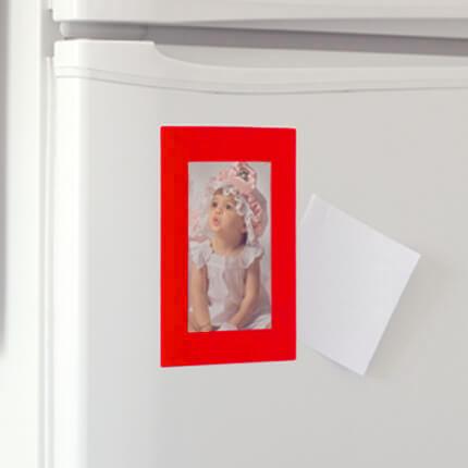 Рамка магнитная для фото 9х13 см, красная