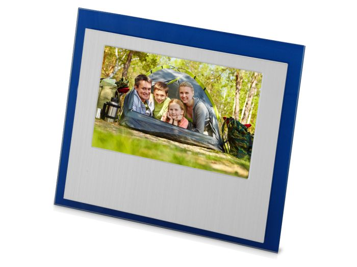 """Рамка для фотографии """"Баэса"""", цвет серебристый с синим"""
