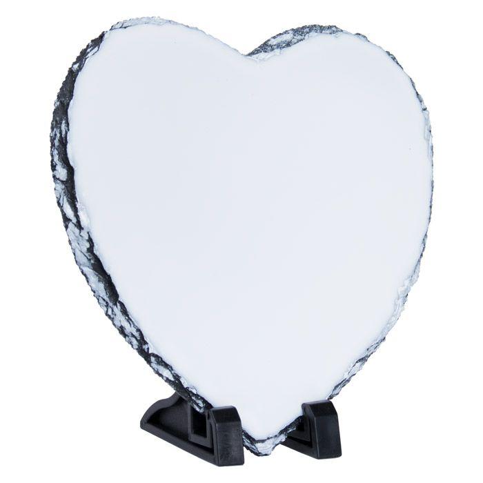 Фотокамень для сублимации, сердце 20х20 см, стандарт