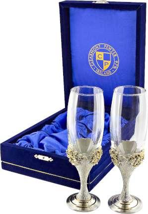Набор из 2 бокалов для шампанского в подарочной коробке