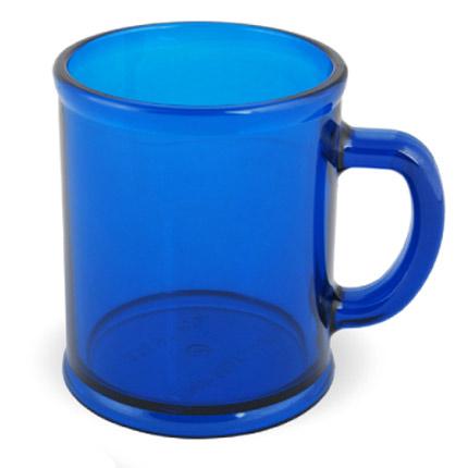 Кружка пластмассовая Lekker, цвет прозрачный синий