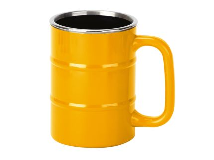 "Кружка ""Баррель"" на 400 мл, желтая"