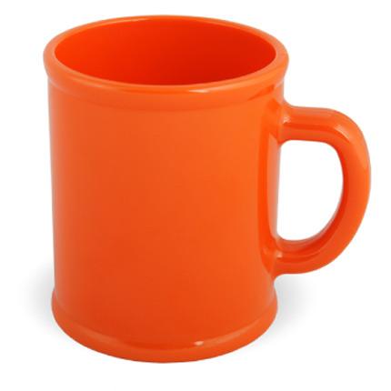 Кружка пластмассовая Lekker, цвет оранжевый