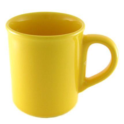 Кружка керамическая 250 мл с загубником, желтая