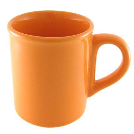 Кружка керамическая 250 мл с загубником, оранжевая
