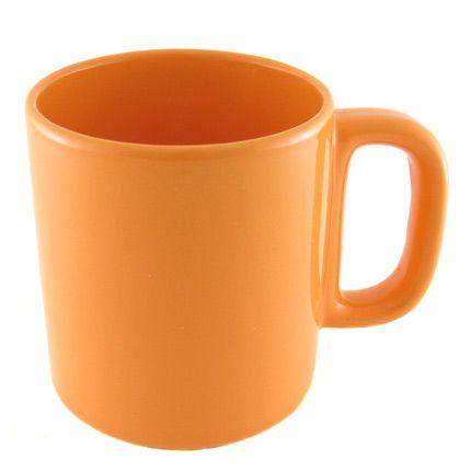Кружка керамическая 280 мл (цилиндр), оранжевая