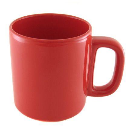 Кружка керамическая 280 мл (цилиндр), красная
