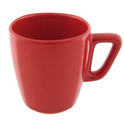 Кружка керамическая 250 мл (квадрат), красная