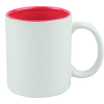 """Кружка керамическая """"Gain"""", 320 мл, снаружи белая, внутри красная"""
